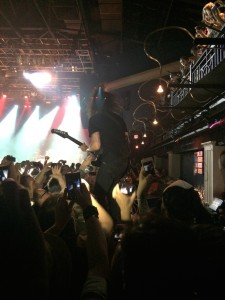 Dave Grohl of The Foo Fighters guitar solo on top of 9:30 Club's bar